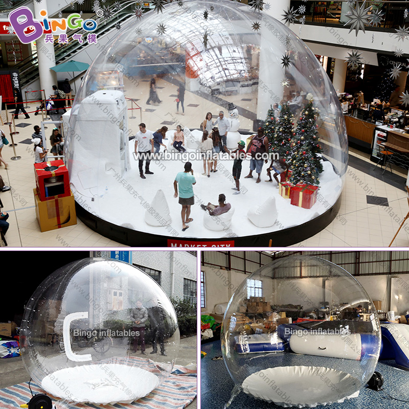 2.2meters high Inflatable Chrismas bubble snow globe toy 10pcs lot cold resistant pvc inflatable unicorn winter snow tube inflatable snow games toys snow tube toy