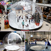 2.2meters high Inflatable Chrismas bubble snow globe toy