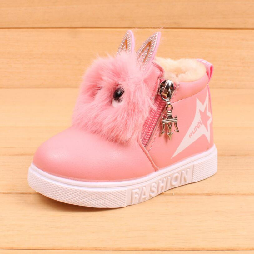 2018 зима теплая детская обувь из искусственной pu кожи модные детские мальчики девочки тапки сапоги малыша теплые Повседневная детская обувь... ...