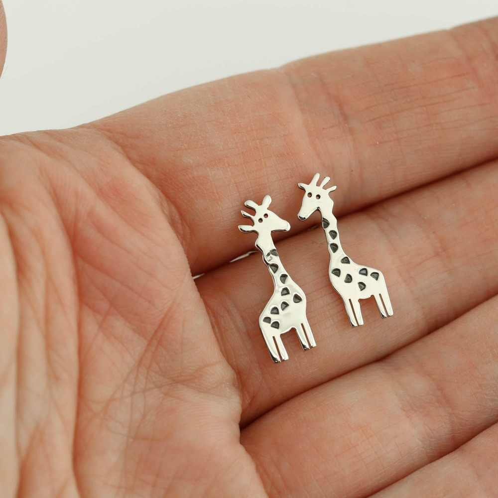 Stokrotki śliczne żyrafa stadniny kolczyki biżuteria dla zwierząt na prezent urodzinowy dla dzieci