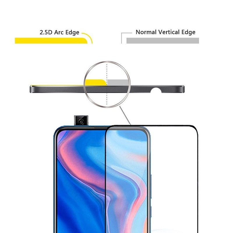 Image 3 - For Huawei P Smart Z Glass screen protector 9D Full Cover Protective film For hauwei Y9 Prime P Smart 2019 Glass psmart 9 y  LX1-in Phone Screen Protectors from Cellphones & Telecommunications