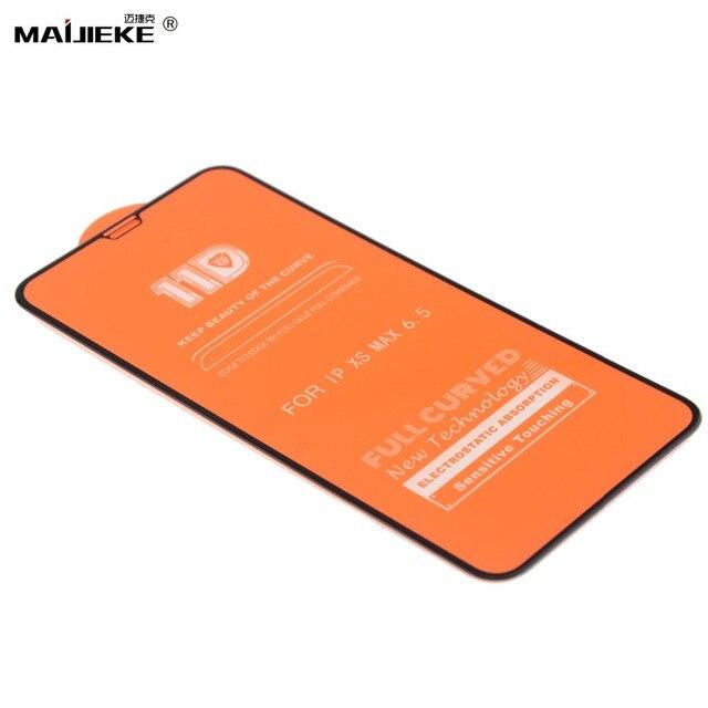 10 pièces 11D verre trempé pour iPhone 11 pro max protecteur décran pour iPhone XXS Max XR 8 7 6s 6 plus Film de protection décran