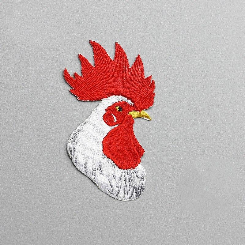 1 piezas Gallo bordado ropa Animal Foxnut Polla cabeza coser en hierro en  bordado pegatinas ...