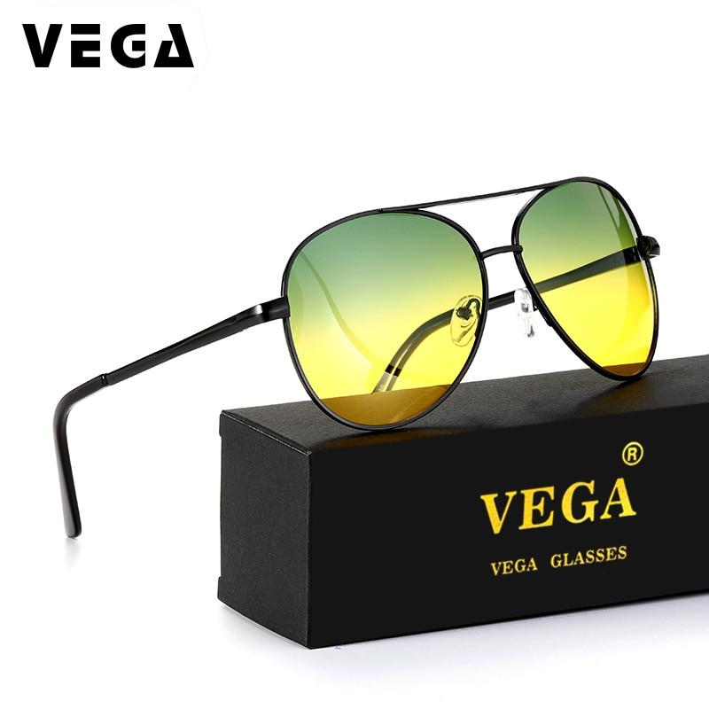00e37994778 VEGA Best Day Night Driving Glasses Men Women HD Vision Driver Sunglasses  At Night 2081