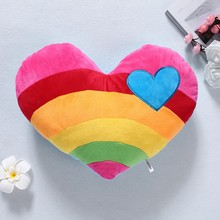 HBB Lovers plush Cushions Waist Throw Pillow gift Vintage Rainbow heart clouds(China)
