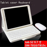 For Samsung Galaxy Tab S2 9.7 Removable Bluetooth Keyboard Case for Samsung Galaxy Tab S2 9.7 T810 T815 Tablet