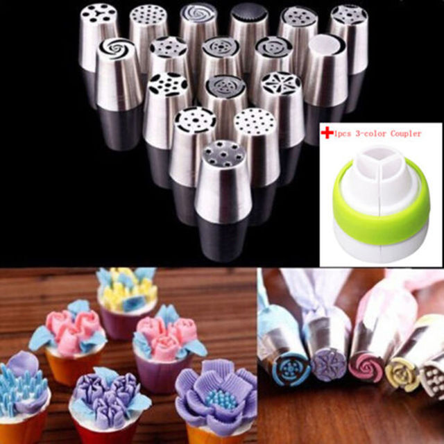 17Pcs Russian Tulip stainless steel Nozzles