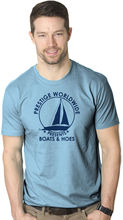 Prestige Worldwide Boats And Hoes T-Shirt Funny Classic Sailing Movie Tee Harajuku  Fashion Unique free shipping