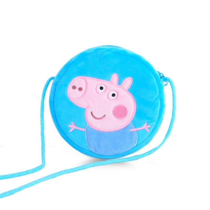 9 Style Genuine New Original Peppa Pig George Pig Susie Purse Plush Toy Kawaii Kindergarten Bag Backpack Wallet Money School Bag 4