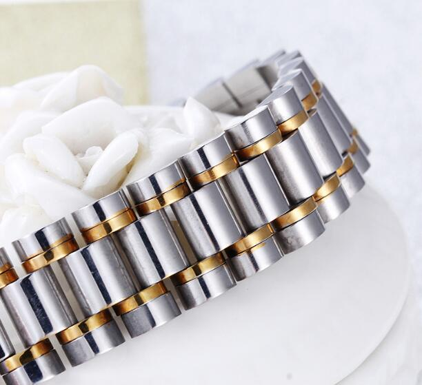 4108d44466f 16MM 8.5'' Fashion Gifts Stainless Steel New design Link Chain Bracelet  Bangle Men's Wirsthand gold silver -in Chain & Link Bracelets from Jewelry  ...
