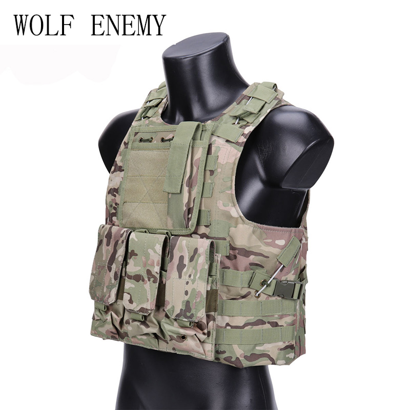 WOLF ENEMY Hunting Military Tactical Vest Camouflage Wargame Body Molle Waistcoat Armor Hunting Vest CS Outdoor Equipment