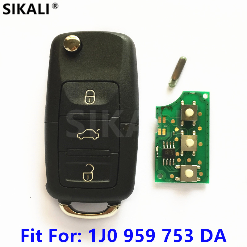Car Remote Key for 1J0959753DA 5FA009259-10 for Passat/Bora/Polo/Golf/Beetle 2001 2002 2003 2004 2005 2006 2007 2008 2009 2010