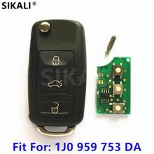 Clé télécommande pour voiture, pour VW/VOLKSWAGEN Passat, Bora, Polo, Golf/Beetle (1J0959753DA, 5FA009259 10) 2001   2010