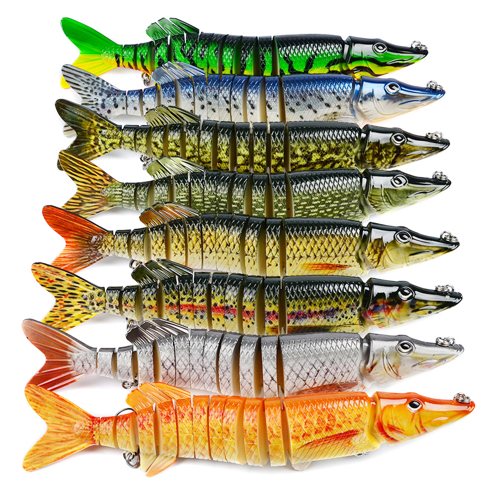 30cm 212g Pike Muskie Fishing Lure 13-segement Swimbait Crankbait Pesca Lures Hard Fishing Bait Treble Hook Fishing Tackle L51 walk fish 5pcs lot isca artificial fishing lure 13cm 21g crankbait hard fishing bait swimbait pesca lures pike fishing tackle