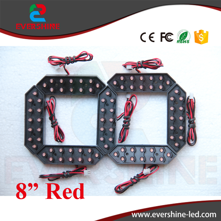 8 Red Color 7 Seven Segment LED Number Module Gas Price LED Display Signs Diesel Price Digital Module LED Outdoor 100 pcs ld 3361ag 3 digit 0 36 green 7 segment led display common cathode