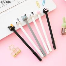 42 Pcs/Lot Kawaii Cat Pen Cute Claw Gel Pens 0.5mm Ballpoint Black Color Lovely Kitties Stationery Office School Supplies
