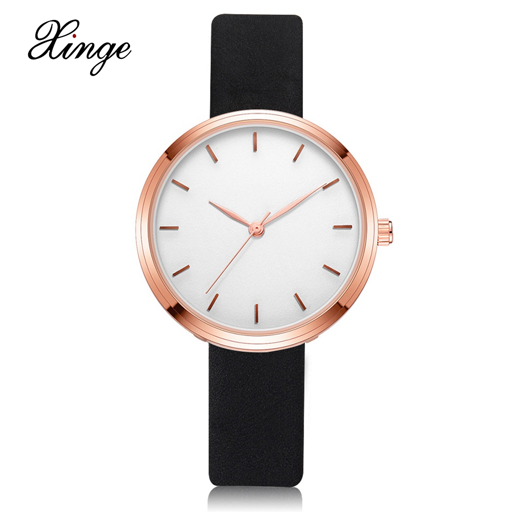 Xinge Fashion Women Watches Classic Leather Bracelet Dress Wristwatches Clock Ladies Business Watches Casual Gift Quartz Watch