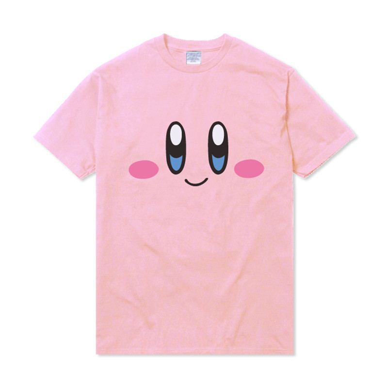 Anime Cartoon Harajuku Kirby T Shirt Lovely Girls Women Casual Summer Short Sleeve Shirts Pink Kawaii Mori Tops Sudadera Tee New