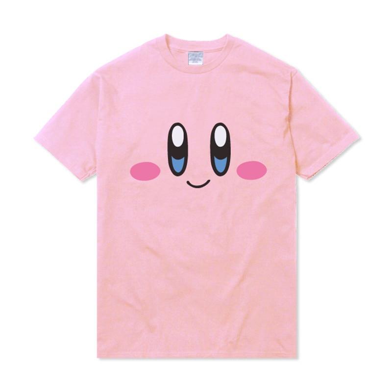 Anime Cartoon Harajuku Kirby T Shirt Lovely Girls Women Casual Summer Short Sleeve Shirts Pink Kawaii Mori Tops Sudadera Tee New