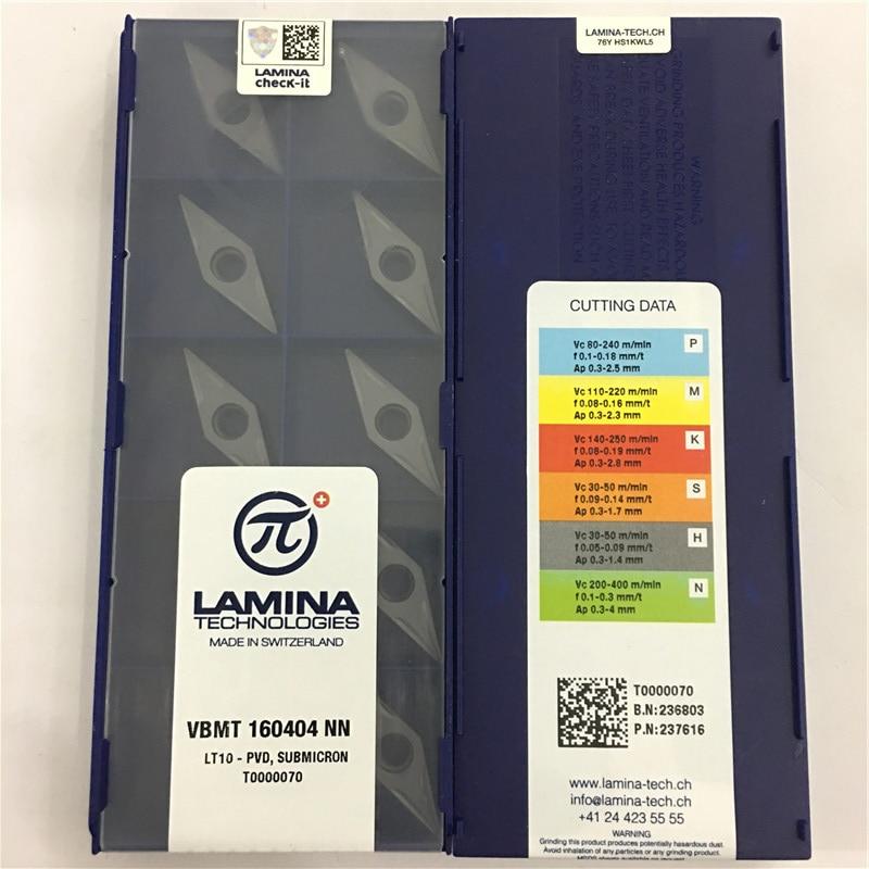 VBMT160404-NN LT10 100% Original LAMINA Carbide Insert With The Best Quality 10pcs/lot Free Shipping