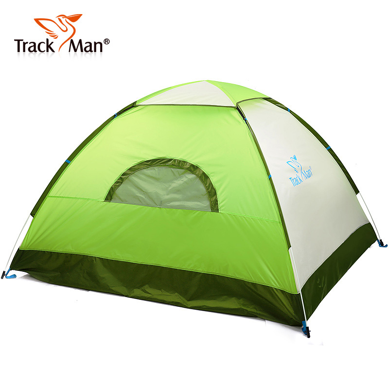 Trackman Camping Tent 3-4 Person One Bedroom 3 Season Tent Outdoor Automatic Opening Tent in one person