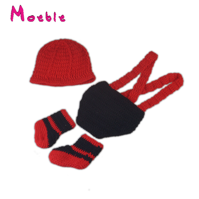 Rojo Negro Mix bebé traje de bombero ganchillo bombero trajes para ...