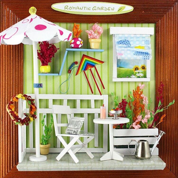 Кукольный домик миниатюрный симпатичный номер Diy Кукольный Дом Миниатюрный Деревянная Модель Здания Мебель 13623 Сад