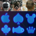 8 Pcs/lot Children's Styling Hair Mold Creative Hairstyle Tools Barber Sizing Tool Shaved Hair Styling Mold Cards