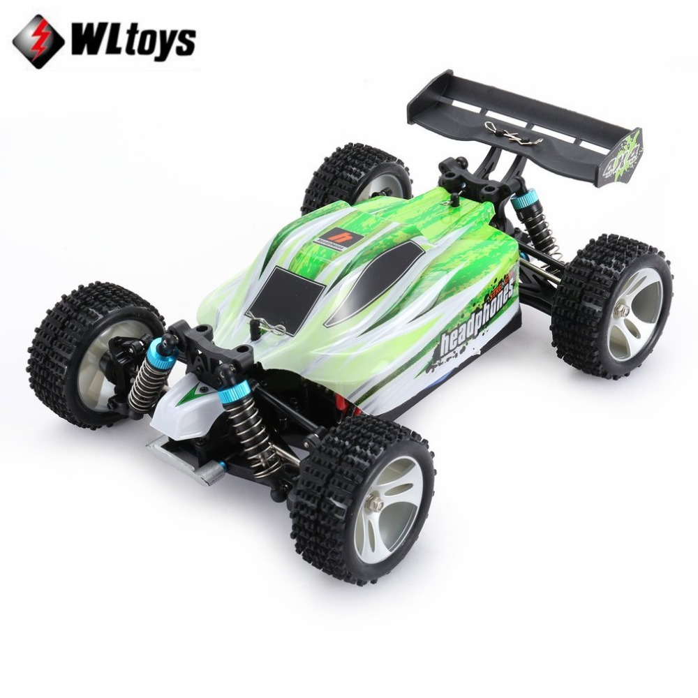 WLtoys A959-B RC Car 2.4G 1/18 Full Proportional Remote Control 4WD Vehicle 70KM/h High Speed Electric RTR Off-road Buggy fi