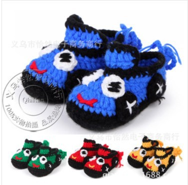 Crochet Baby Shoes Boys Handmade Booties Baby Girls House Slippers