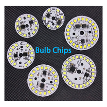 30PCS/LOT Driver Integrated LED Chip SMD For Bulb 220V Input Directly With Smart IC DIY 3W 5W 7W 9W 12W Downlight Spotlight 10pcs lot led lamp 220v cob chip overvoltage protection smart ic no driver 50w light beads for diy spotlight downlight