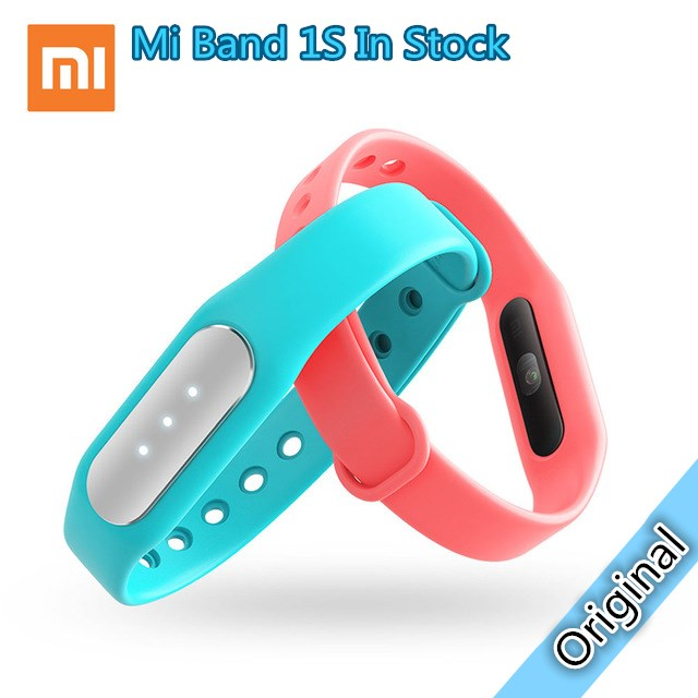 Original Xiaomi Mi Band 1S IP67 Waterproof Bluetooth 4.0 Smart Wristband Heart Rate Fitness Tracker Bracelet for Android IOS