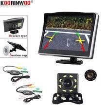 Koorinwoo CCD беспроводной дюймов 5 дюймов цветной ЖК-монитор заднего вида камера Авто парковочные системы водостойкая система парковки