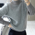 2017 Hot sale sweater women autumn winter women pullover long-sleeve o-neck knitted sweater loose fashion warm wool sweaters