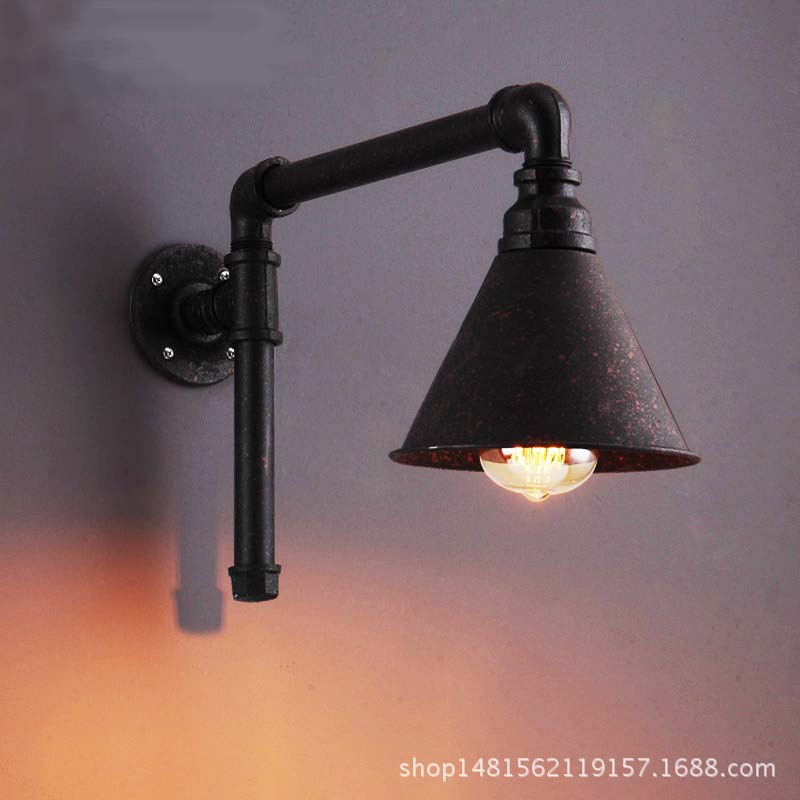 American style village loft iron tube wall lamp dining room living room bar decorative lampsAmerican style village loft iron tube wall lamp dining room living room bar decorative lamps