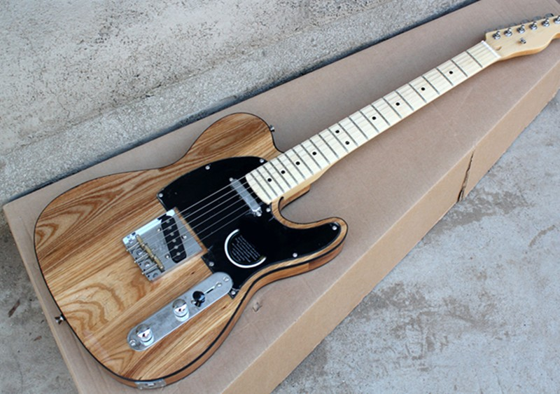 Factory Wholesale ASH Wood String-Thru-Body Electric Guitar with Black Pickguard,Chrome Hardwares,Offer CustomizedFactory Wholesale ASH Wood String-Thru-Body Electric Guitar with Black Pickguard,Chrome Hardwares,Offer Customized