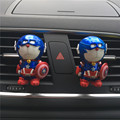 Car perfume Air outlet of automobile air conditioner Iron Man Cartoon shield Cat cat Car perfume Captain America Car Styling