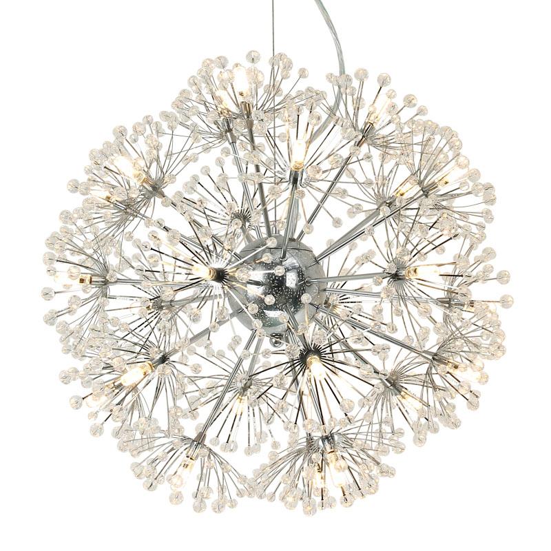 Ecolight Modern Dandelion Design G4 LED Crystal Chandelier Lighting for Dining Room Kitchen Bedroom Entryway Diameter50cm