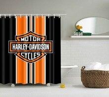 Lfh Harley Davidson логотип шаблон домашнего текстиля украшения ванной комнаты Роскошный уютная Декор ткань занавески нетоксичные