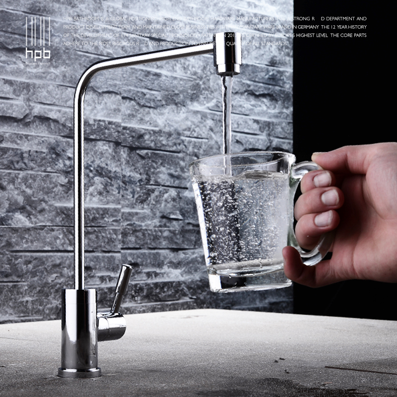 HPB Free Shipping Brass Cold Water Kitchen Faucet Drinking Pure Water Filter Tap purified Water Spout Tap robinet HP4404 free shipping soild brass lead free kitchen faucet mixer drinking water filter tap with filtered purified water spout wholesale