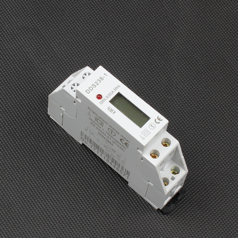 Din rail single phase KWH meter Digital display two wire energy meter 5(32)A 50HZ or 60HZ 220V Watt hour 5a to 32a 25a 16a 10a