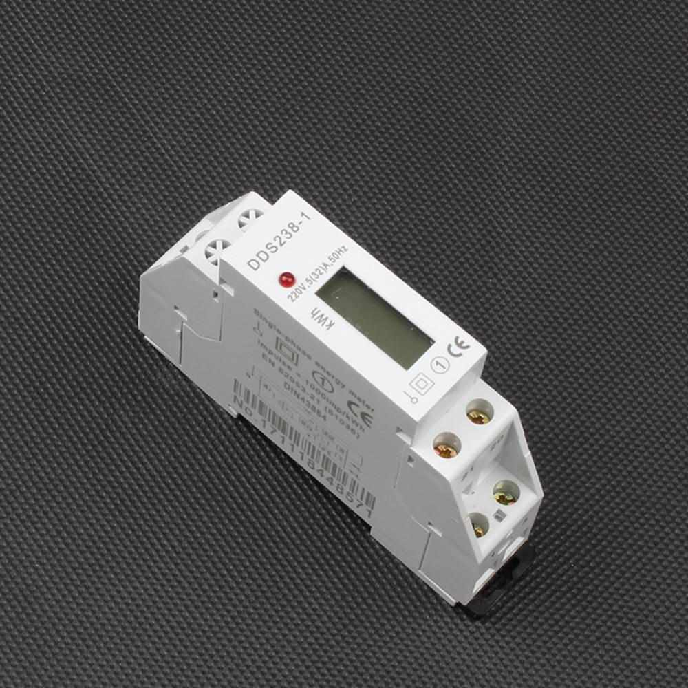 Din-schiene einphasig kwh-messinstrument Digital display zwei draht ...