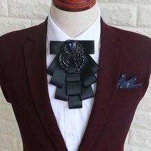 Moda hombre corbata Novio mejores hombres de la boda de la vendimia del collar de Inglaterra caballero Corbata corbata joyería gótica retro traje de accesorios
