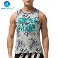 Gailang Marca Homens Tanque Parte Superior da Veste T-shirt do Músculo Sem Mangas sem Luva Imprimir Tops Camisas dos homens Moda Casual Aptidão Gast vestuário