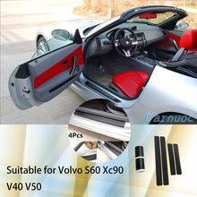 Пылезащитные 3d наклейки на двери автомобиля из углеродного