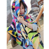 ZFQHJJ Fashion Women Brights Colorful Checked Plaid Wool Viscose Scarf Grids Large Turtan Wrap Shawl Stole