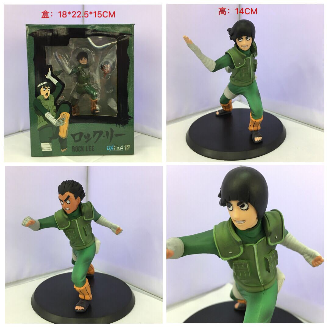 WVW 14CM Hot Sale Anime Heroes Naruto Rock Lee Model PVC Toy Action Figure Decoration For Collection Gift Free shipping anime naruto pvc action figure toys q version naruto figurine full set model collection free shipping