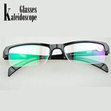 Women Men Half Frame Myopia Glasses Resin High Quality Cheap Black Frams