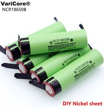 100% New Original NCR18650B 3.7 v 3400 mah 18650 Lithium Rechargeable Battery Welding Nickel Sheet batteries