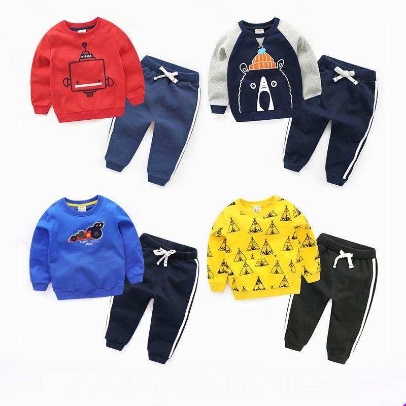 Child set 2017 spring and autumn girls clothing baby sports male child  children autumn coat set